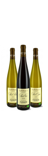 Colis n°2 - La trilogie des Grands Pinots d'Alsace